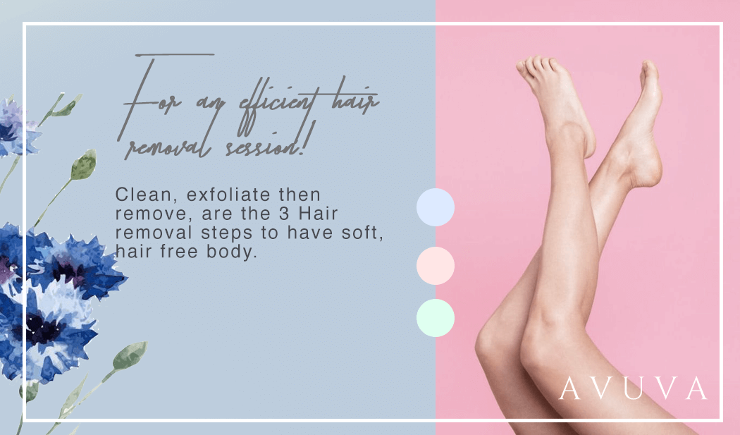 For an efficient hair removal session!
