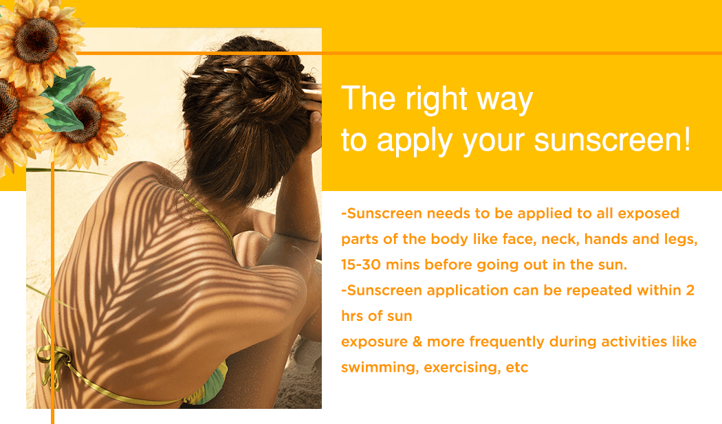 The right way to apply your sunscreen!
